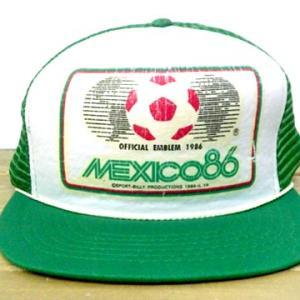 サッカー ワールドカップ メキシコ MEXICO86 デザイン ビンテージ キャップ 帽子