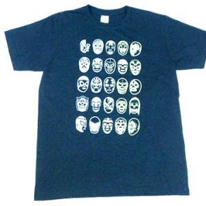 ルチャリブレ マスク レスラー メキシコ プロレス デザイン Tシャツ