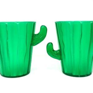 サボテン カクタス プラスチック メキシカン テキーラ パーティ ショットグラス 2個セット