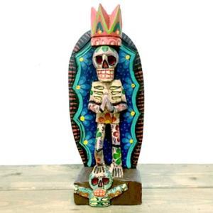 メキシコ マリア グアダルーペ 骸骨 スカル カラベラ デザイン メキシカン インテリア 置物
