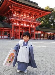 三歳男児の七五三…被布コートのススメ