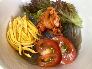 韓国冷麺を低カロリーの韓国春雨で作る