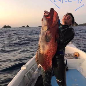 長男の魚突き