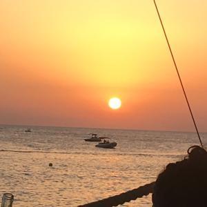 世界一の夕日♡IBIZAカフェデルマール