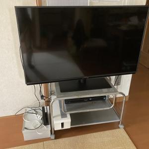 22型テレビが壊れて代わりに50型を購入