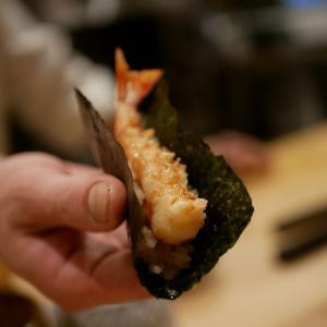 【中目黒】ミシュランの天ぷらを握りでいただくという贅沢。看板のない「鮨おにかい」