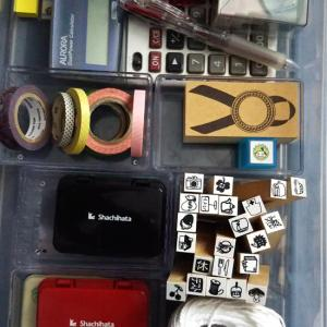 スタンプとマスキングテープの収納