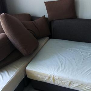 ソファーカバーの洗い替え