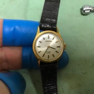 シチズン手巻時計のオーバーホール