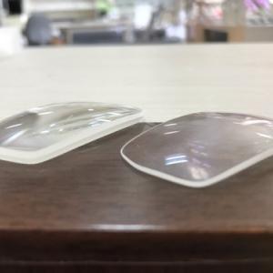 レンズの薄型加工