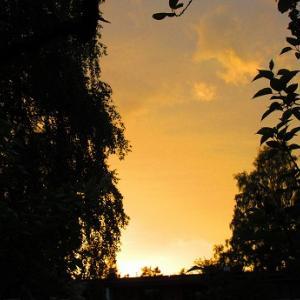 日の入りの風景
