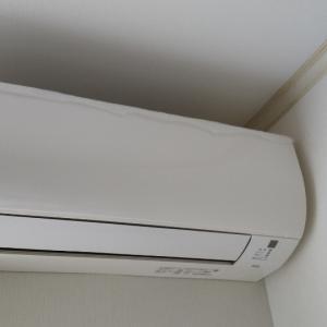 エアコンの送風ボタン