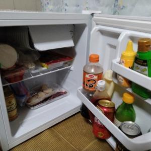 今日も暑かった 新品の冷蔵庫を一杯にしたい俗な奴