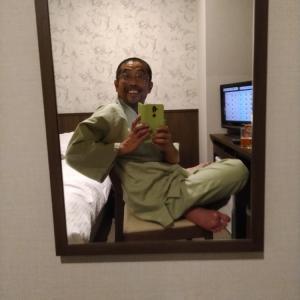 紋別のホテルにて