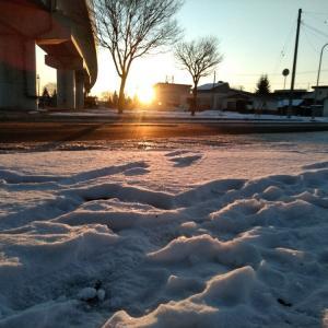 マイナス15℃の朝 5連勤初日