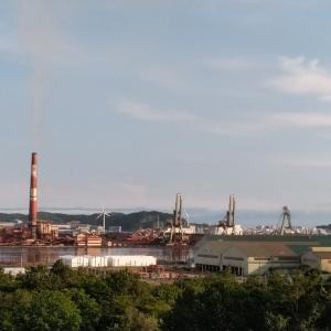 室蘭2日目 丘からの工場風景