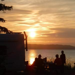 クッチャロ湖にて夜 美しい黄昏