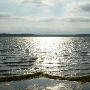 クッチャロ湖にて4日目の夜 強風の湖畔