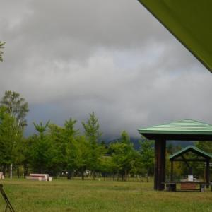つくも水郷公園にて2日目の夜 嵐が過ぎたリバーサイド