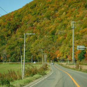 津別へ 秋に燃える山を見ながらドライブ