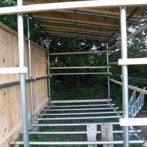 【小屋作り】北側の壁を張った これはめちゃ快適でシュールな小屋になる 帯広へ急ぐことはない