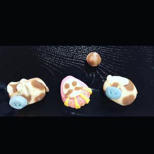 子供茶道教室で和菓子つくり体験 ①