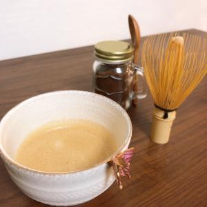 茶筅ふりふりでふわふわ珈琲の出来上がりです♪