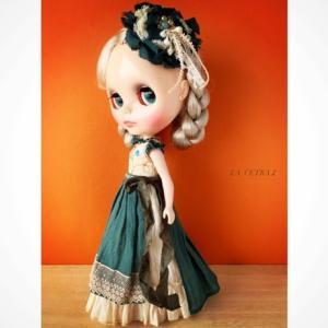 ヘッドドレスと髪飾りも作りました〜♪