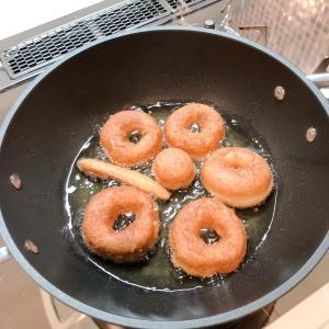 娘とドーナツ作り♡