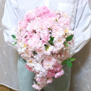 桜のティアドロップブーケ&ブートニア