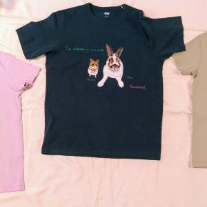 うちの子Tシャツ作っていただきました~♪