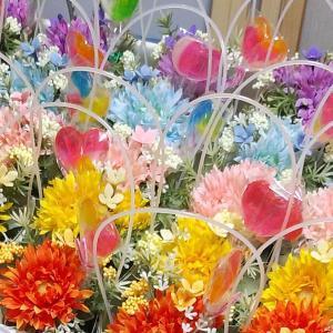 バレエ発表会のお花♪納品に向けて準備中(*^_^*)