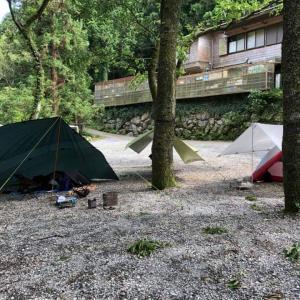 大雨の撤収 河津七滝オートキャンプ