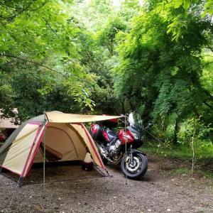 5月のバイクキャンプ ステイシーST-2初張り