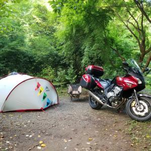 7月のバイクキャンプ 常在野営場