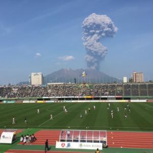いつかスタジアムから桜島をみたい!!