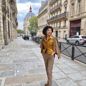 私がパリでセレクトした今ジーズンの秋物と着こなし^_−☆p