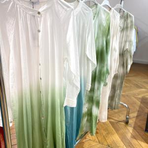 パリ実況中継‼️ 夏の素敵なファッションをアップ中♪(´ε` )