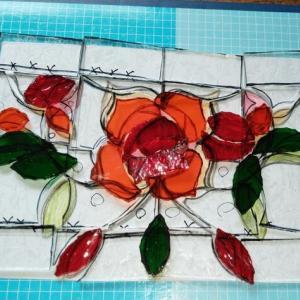 バラのミニパネルの製作