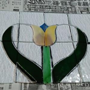 チューリップハートのミニパネルの製作6