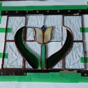 チューリップハートのミニパネルの製作8