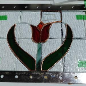 チューリップハートのミニパネルの製作10