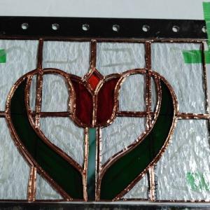 チューリップハートのミニパネルの製作12