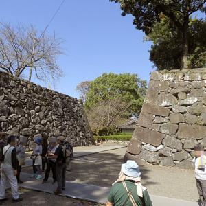 八代城(続日本100名城)4 頬当御門より八代宮と加藤正方