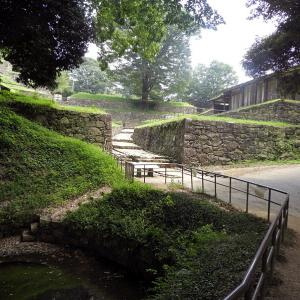 金山城(日本100名城) 6 月ノ池から大手虎口南上段曲輪