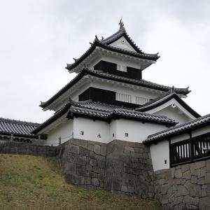 白河小峰城(日本100名城) 7 おとめ桜の昔話と天守前