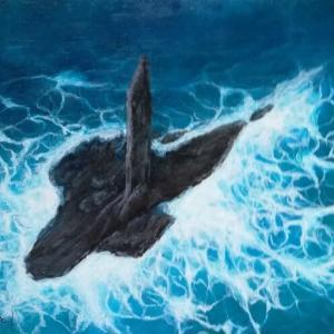 波紋様を描く