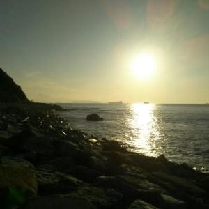 伊良湖水道の夕日