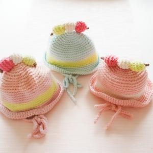 『花より団子』の可愛いお帽子♪