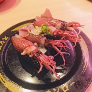外食解禁明けの初外食は、ホタルイカのお寿司〜スシロー〜